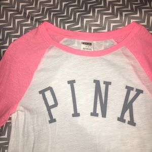 Victoria's Secret Pink Perfect Baseball Tee
